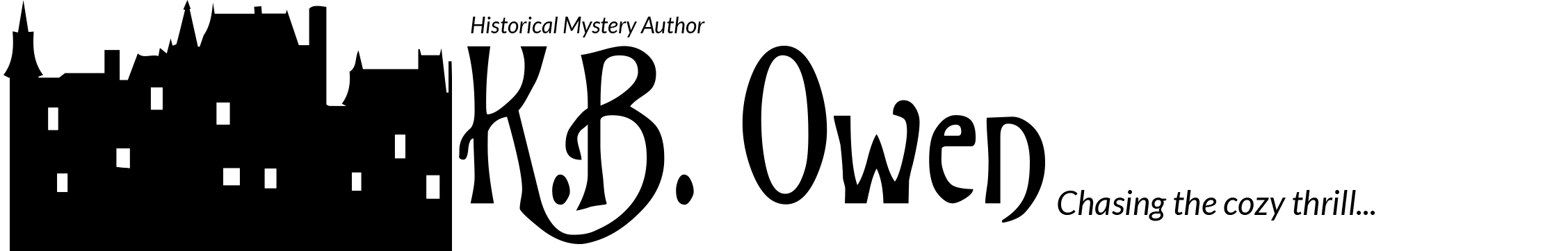 K.B. Owen, mystery writer — Logo
