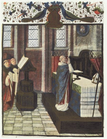 15thc Pontifical Mass. Image via wikimedia commons (CC).