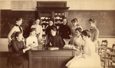 Wellesley Mathematics Class, 1886, from Wellesley Digital Archives