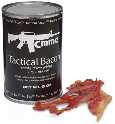 Tactical Bacon.  I may not wait until the Apocalypse to open it.  Image via ThinkGeek.com