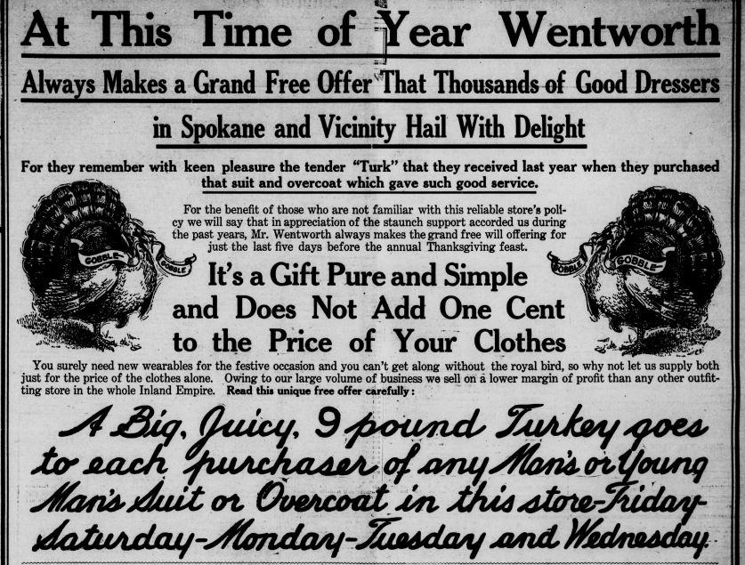 The Spokane Press, November 17, 1910 (via Chronicling America, Library of Congress).