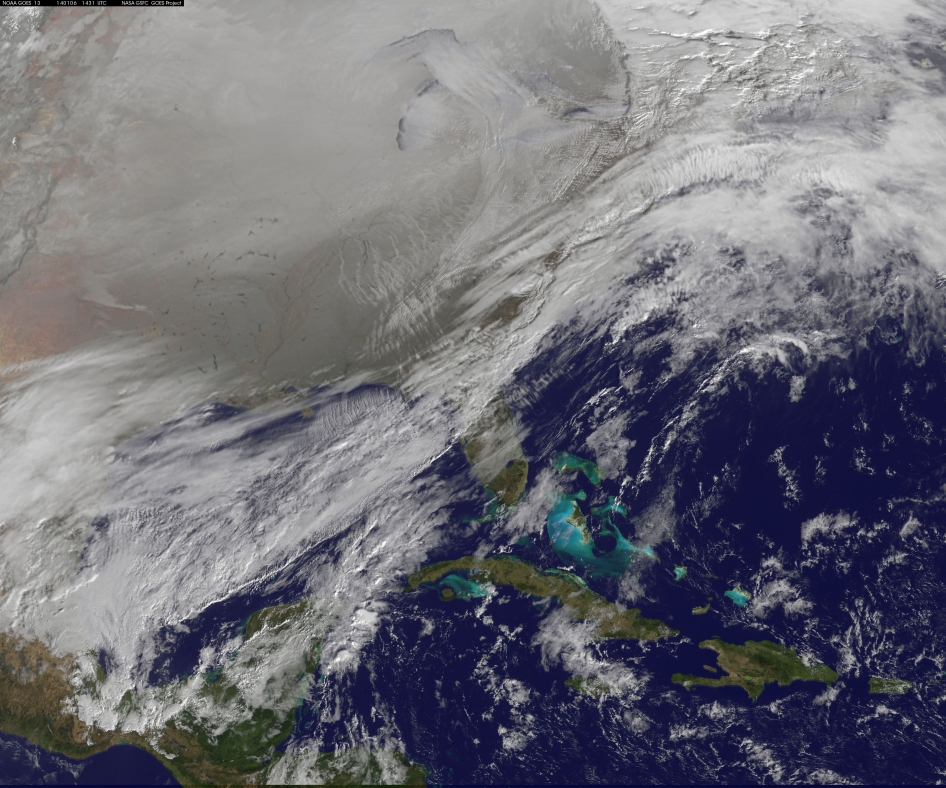 Image from NOAA satellite, 1.6.2014, via NASA.gov