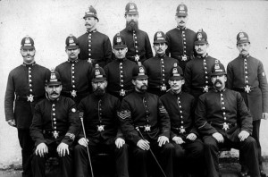 Manchester Police, 1880s. Wikimedia Commons.