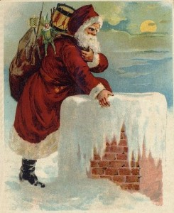 "No attributed artist, accompanied Clement Moore's ""A Visit From St. Nicholas,"" 1870."