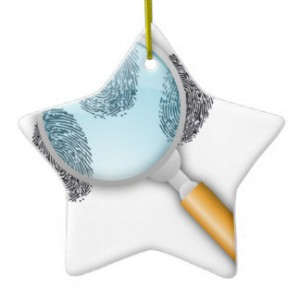 Fingerprint ornament. Image via Zazzle.com