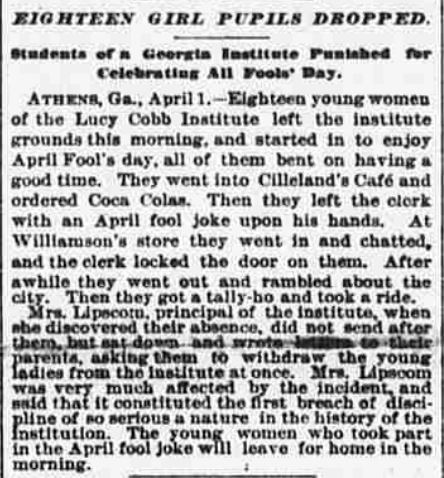 from The Sun (New York), April 2, 1897.