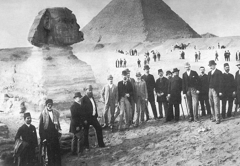 Russian tour group, 1890.  Author unknown. Via wikimedia commons.