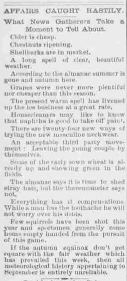 the Evening Herald, Shenandoah PA 25 Sept 1891