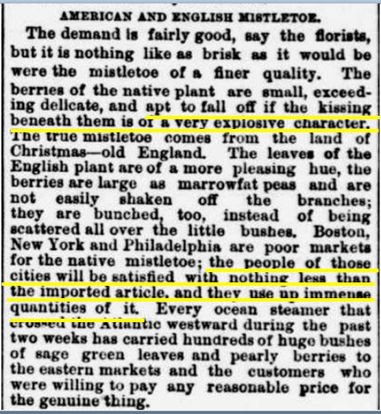 The Evening Star (Wash, DC), 24 Dec 1889. Image via Chronicling America, Library of Congress (highlighting mine).