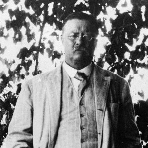 Teddy Roosevelt at family home, 1910. Image via wikimedia commons.