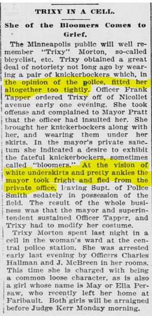 From the Saint Paul Daily Globe, December 1, 1895.