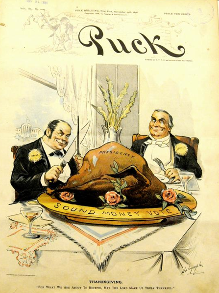 Puck Thanksgiving cover, 1896.
